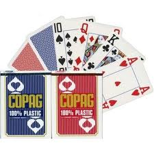 Copag 100% plastic marked cards